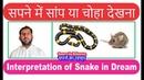 Interpretation of Snake in dream सपने में सांप का बिल की व्याख्या Sapne mein Choa dekhna