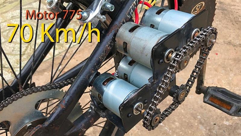 Chế xe đạp điện sử dụng 4 Motor 775 tốc độ 70km h DIY Make Electric Bike using motor