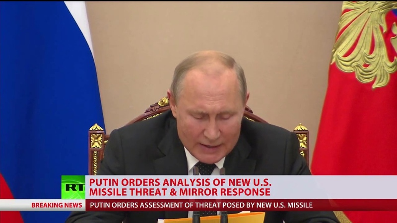 Putin orders 'exhaustive' response to US cruise missile test