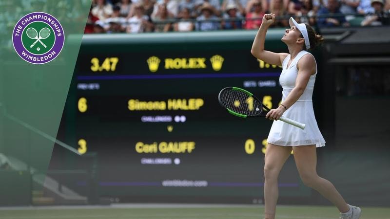 Simona Halep vs Coco Gauff Wimbledon 2019 fourth round highlights