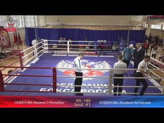 Всероссийские соревнования по боксу среди юниорок(17-18) и девушек (15-16) Финалы