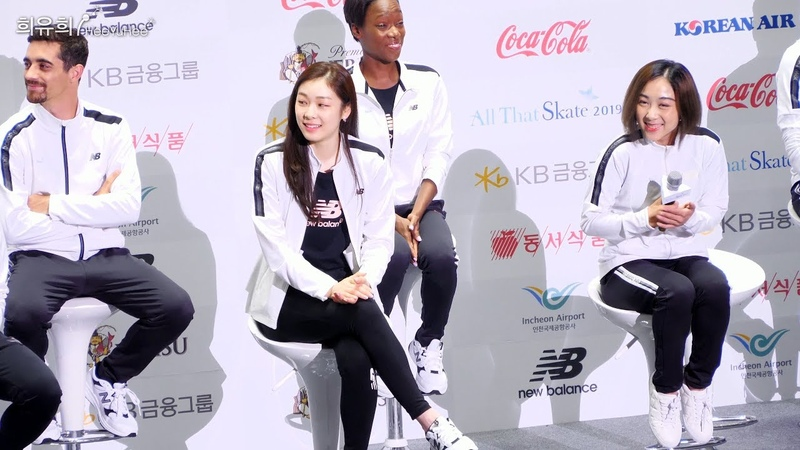 [4K60p] All That Skate 2019 (D-1) Kiss Cry Fan Meeting Fancam Part.2 - 선수 개별 질답 시간