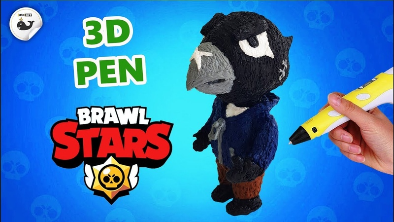 3D pen | Crow from Brawl Stars| How to draw Crow from Brawl Stars with a 3D pen.