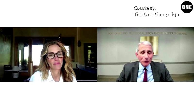 Dr Fauci talks health disparities with Julia Roberts