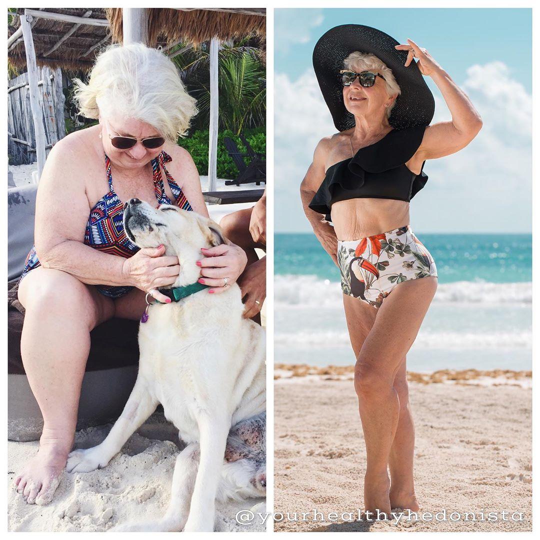 73-летняя женщина сбросила 25 кг и стала интернет - сенсацией