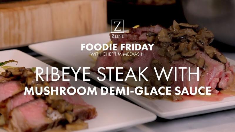 How To Make PERFECT Ribeye Steak With Mushroom Demi Glace Sauce