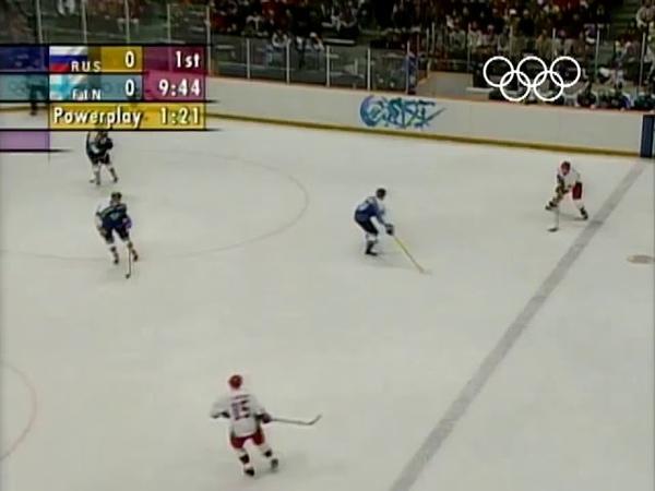 Павел Буре. Нагано. Россия-Финляндия.