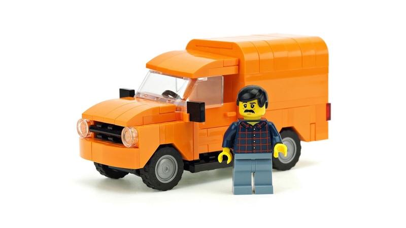 LEGO Orange Van. MOC Building Instructions