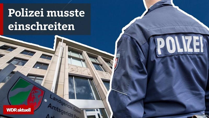 Schlägerei in Essener Gerichtssaal nach Clan Urteil WDR Aktuelle Stunde