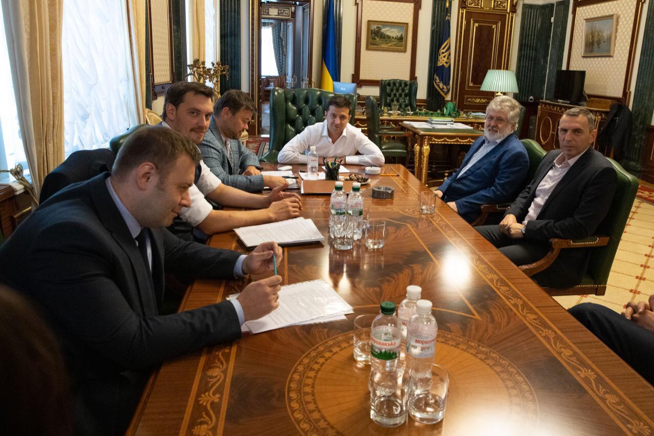 Зеленский обсудил с Коломойским вопросы ведения бизнеса на Украине