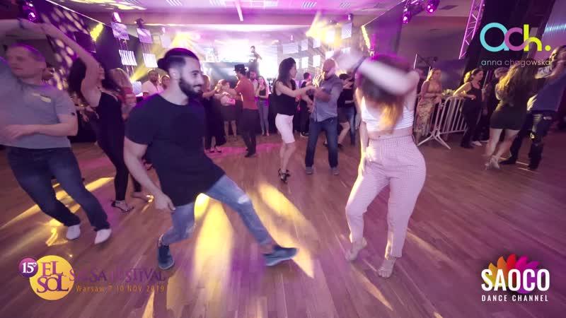 Soufiane Ottmani and Alita Bru Salsa Dancing at El Sol Warsaw Salsa Festival 2019 Thursday 07 11 2019
