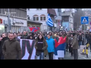 Serben gehen gegen Masseneinwanderung und fr Solidaritt mit Griechenland auf die Strae