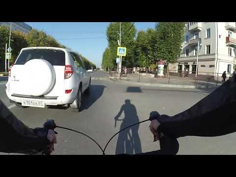 На шоссейном велосипеде по осеннему городу Кавказ Кабардино Балкария Нальчик