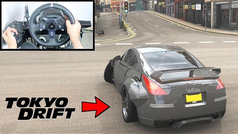 Forza Horizon 4 DK Nissan 350z (Steering Wheel Shifter) Tokyo Drift Gameplay