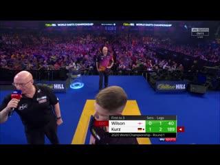 James Wilson vs Nico Kurz (PDC World Darts Championship 2020 / Round 1)