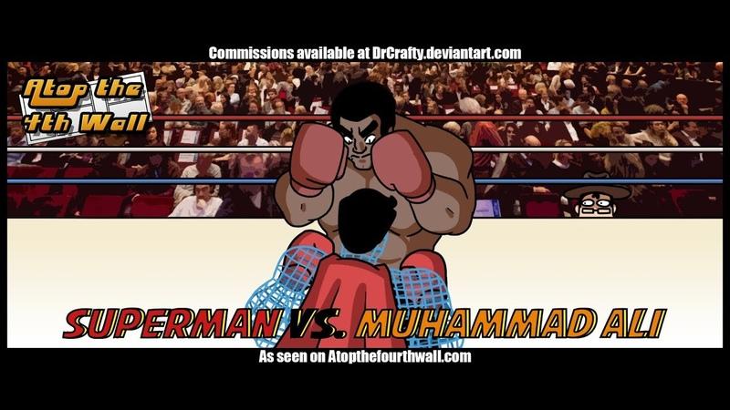 Superman vs Muhammad Ali Atop the Fourth Wall