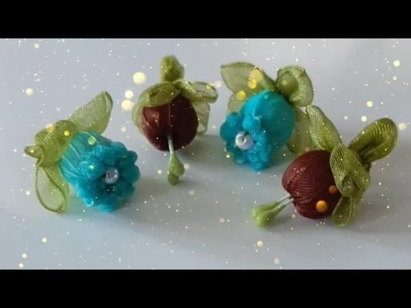 Organze Kurdele ile Yaptıgım Tohumlu normal Nar Çiçeği Videolu Anlatım