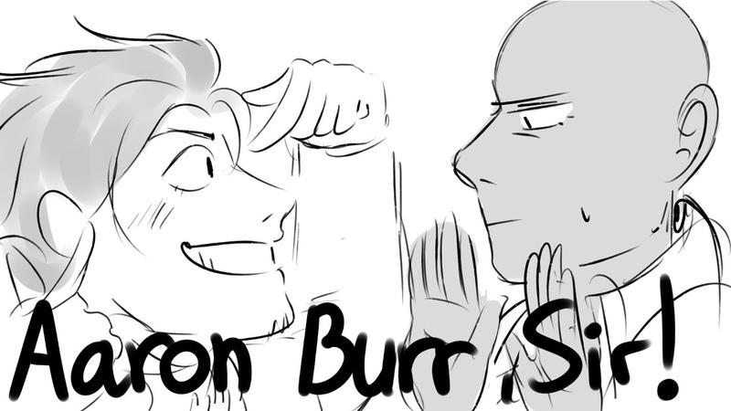 Aaron Burr Sir Hamilton Animatic