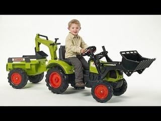 Машинка бибика и красный трактор Machine bibikar and red tractor