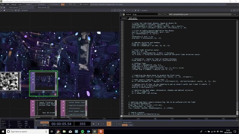 Touchdesigner Shadertoy GLSL integration
