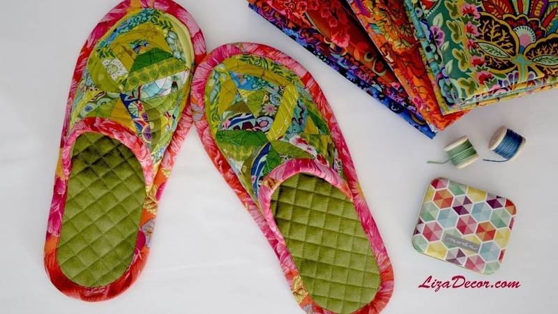 Slippers patchwork FREE download pattern