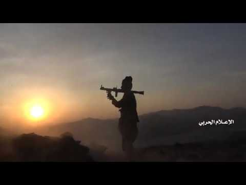 Al Jawf Yemen Limpieza de Jabal Qasha'an en Khob al Sha`f confiscando armas equipos y mercenarios