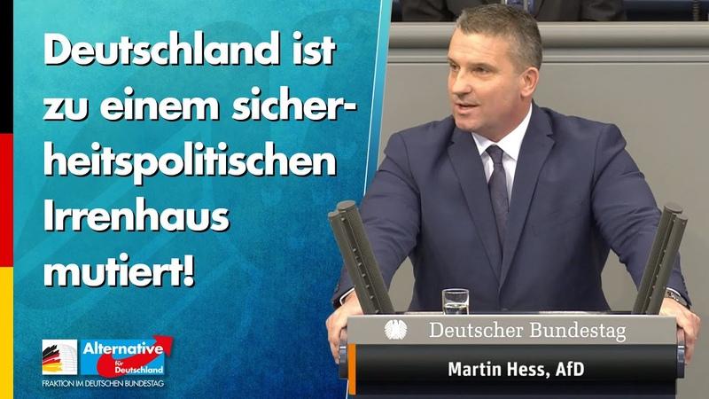 Deutschland ist zu einem sicherheitspolitischen Irrenhaus mutiert! - Martin Hess - AfD-Fraktion