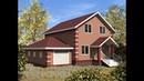 Проект дома с гаражом Дом с мансардным этажом Проектирование и строительство коттеджей
