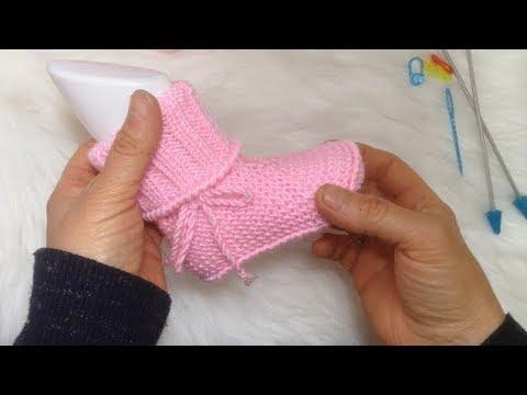 İki şişle kolay Kız- Erkek bebek botu yapımı 1 Yaş Bebek Patiği