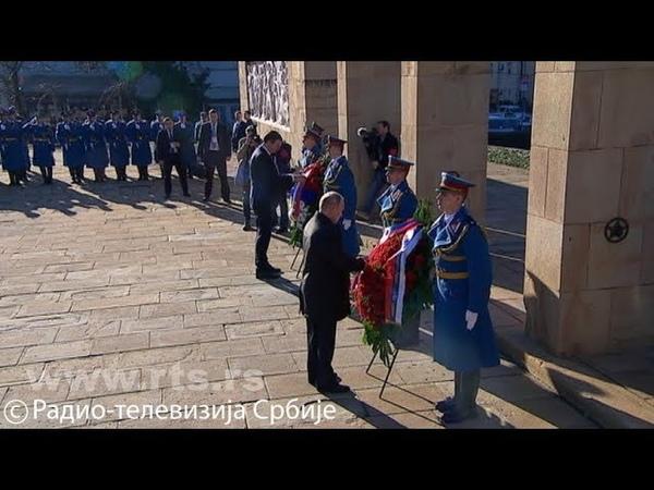Polaganje venaca na Groblju oslobodilaca Beograda