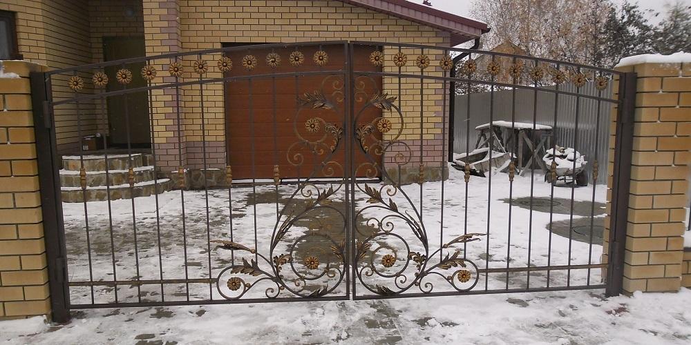 Изготовление ворот способом холодной ковки