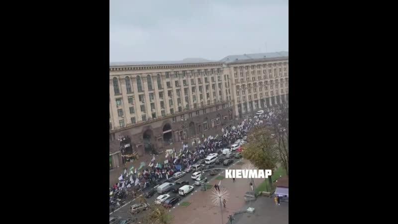 Крещатик 01 12 2020 митингуют ФОПы против повышения налогов