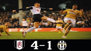 Fulham 4-1 Juventus UEL 2nd Leg 2010  (5-4 Agg)●Fulham Through QF● Classic Match