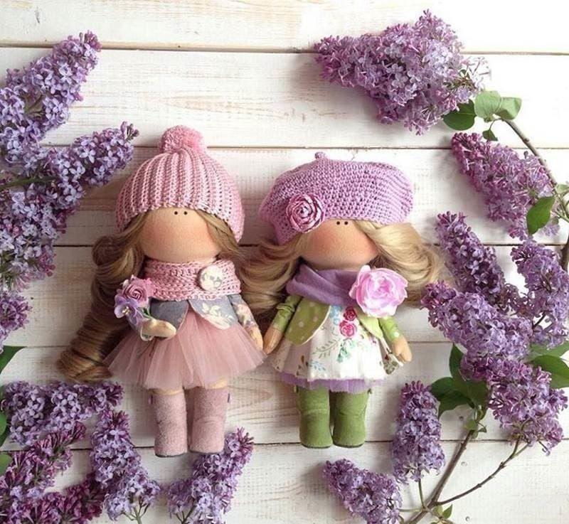Куклы в стиле прованс, выкройка