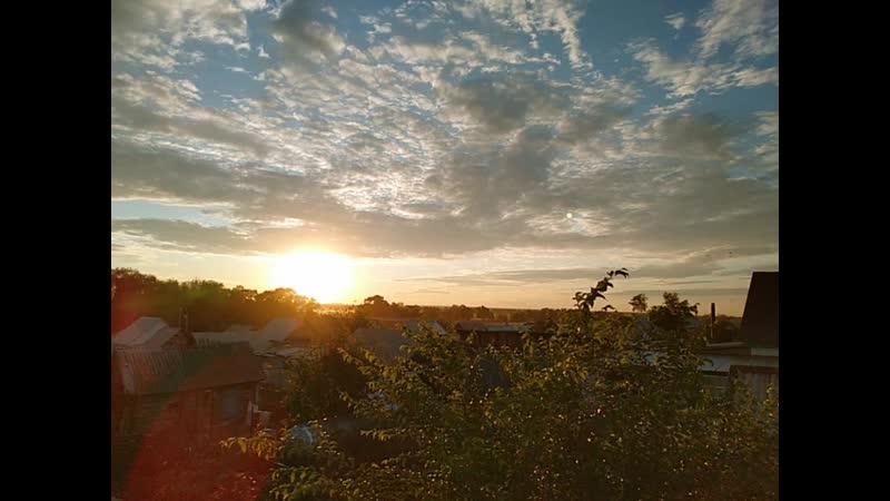 Лето красивый закат Акъяр