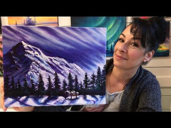 """Wintertime Solitude"" Acrylic Painting Tutorial"