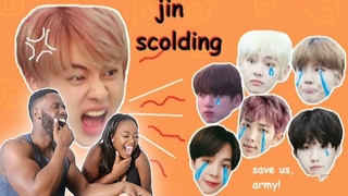 jin scolding his members ft. txt for 448 seconds straight!   REACTION  
