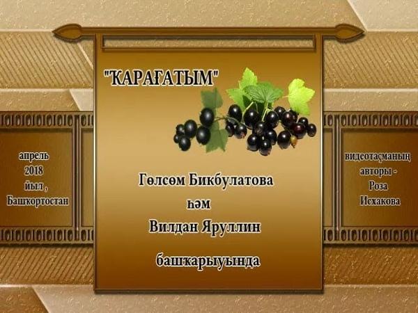 Гөлсөм Бикбулатова Вилдан Яруллин ҠАРАҒАТЫМ Смородина моя