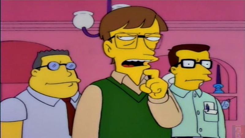 Internet cest sur ordinateur maintenant Homer, Bill Gates est ici !