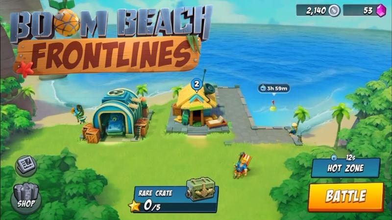 Boom Beach Frontlines Альфа Тест