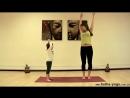 Как делать утреннюю детскую йогу. Зарядка мама с дочкой.