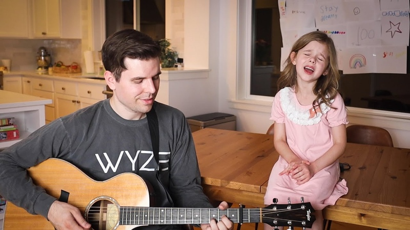 Shallow Lady Gaga and Bradley Cooper from A Star Is Born 7 Year Old Claire Crosby and Dad Cover