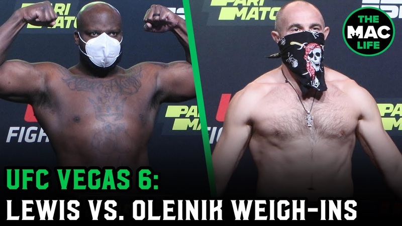 Derrick Lewis looking lean and mean at 265-pounds   UFC Vegas 6 Official Weigh-Ins