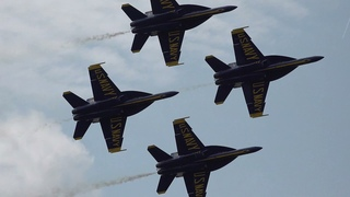 US Navy Blue Angels Demonstration during SNF 2021 (Sun N Fun)