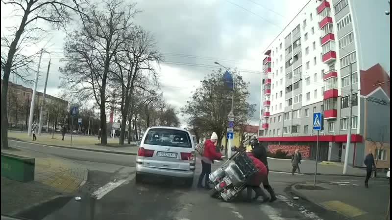 ДТП польского путешественника в Белоруссии.