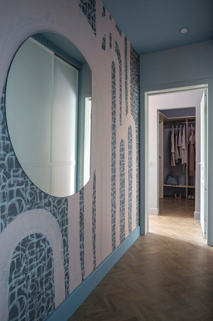 «Двушка» с двуцветными потолками в доме серии П-44 от студии Maria Mikena Interiors || 01