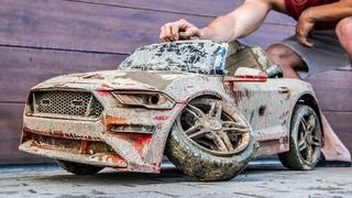 Kids Ford Mustang GT - Restoration Abandoned Kids Car