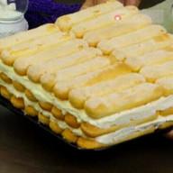 """id_19516 Молочный тортик из печенья """"Савоярди""""❣  Автор: Appetitno TV  #gif@bon"""