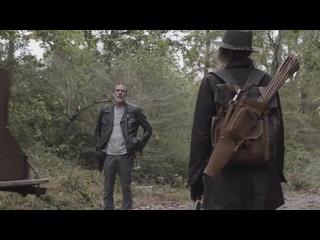 THE WALKING DEAD 10x17 Вступительные минуты [HD] Джеффри Дин Морган, Лорен Коэн