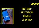 InviteBot — результаты работы за 24 часа Вконтакте